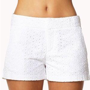 Cynthia Rowley White Eyelet Shorts